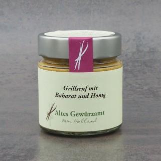 Grillsenf mit Baharat und Honig
