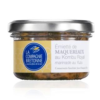 Makrelenstückchen mit Kombu-Alge und Yuzumarinade