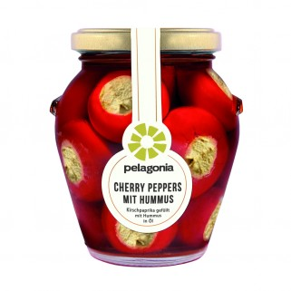 Cherry Peppers mit Hummus