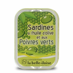 Sardinen in Olivenöl mit grünem Pfeffer
