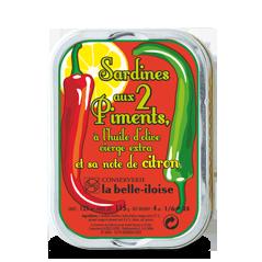 Sardinen in Olivenöl mit 2 Chilisorten und Zitrone