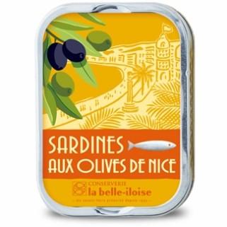 Sardinen in Olivenöl mit Nizza Oliven