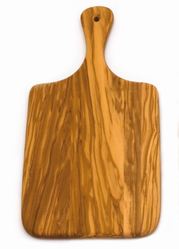 Olivenholz Griffbrett 29X14X1 cm