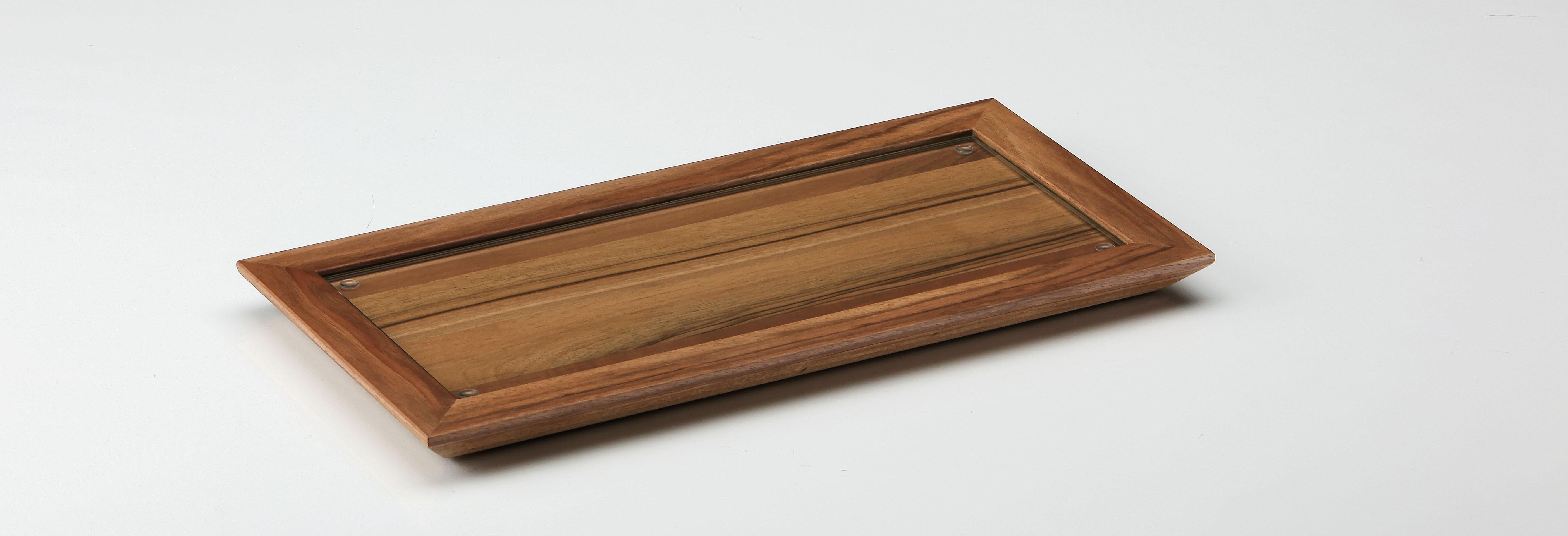 altes gew rzamt ingo holland tablett holz mit glaseinlage. Black Bedroom Furniture Sets. Home Design Ideas