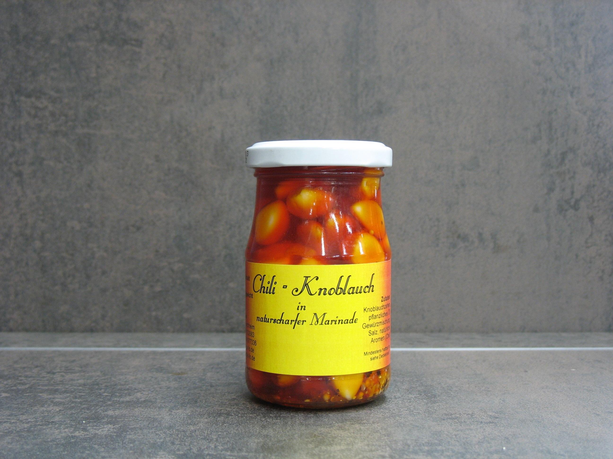 Chili - Knoblauch in scharfer Marinade