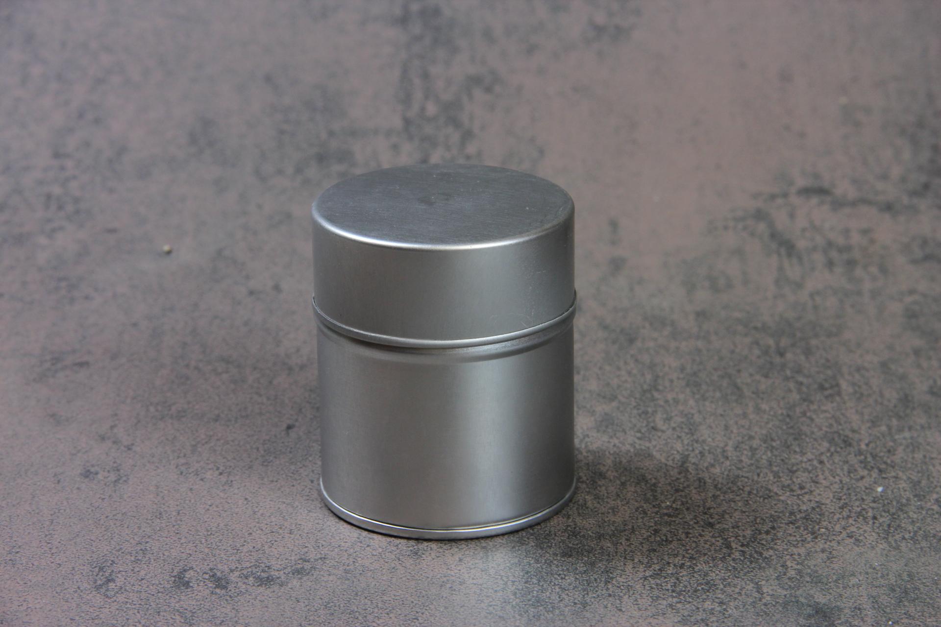 Blechdose Silbern