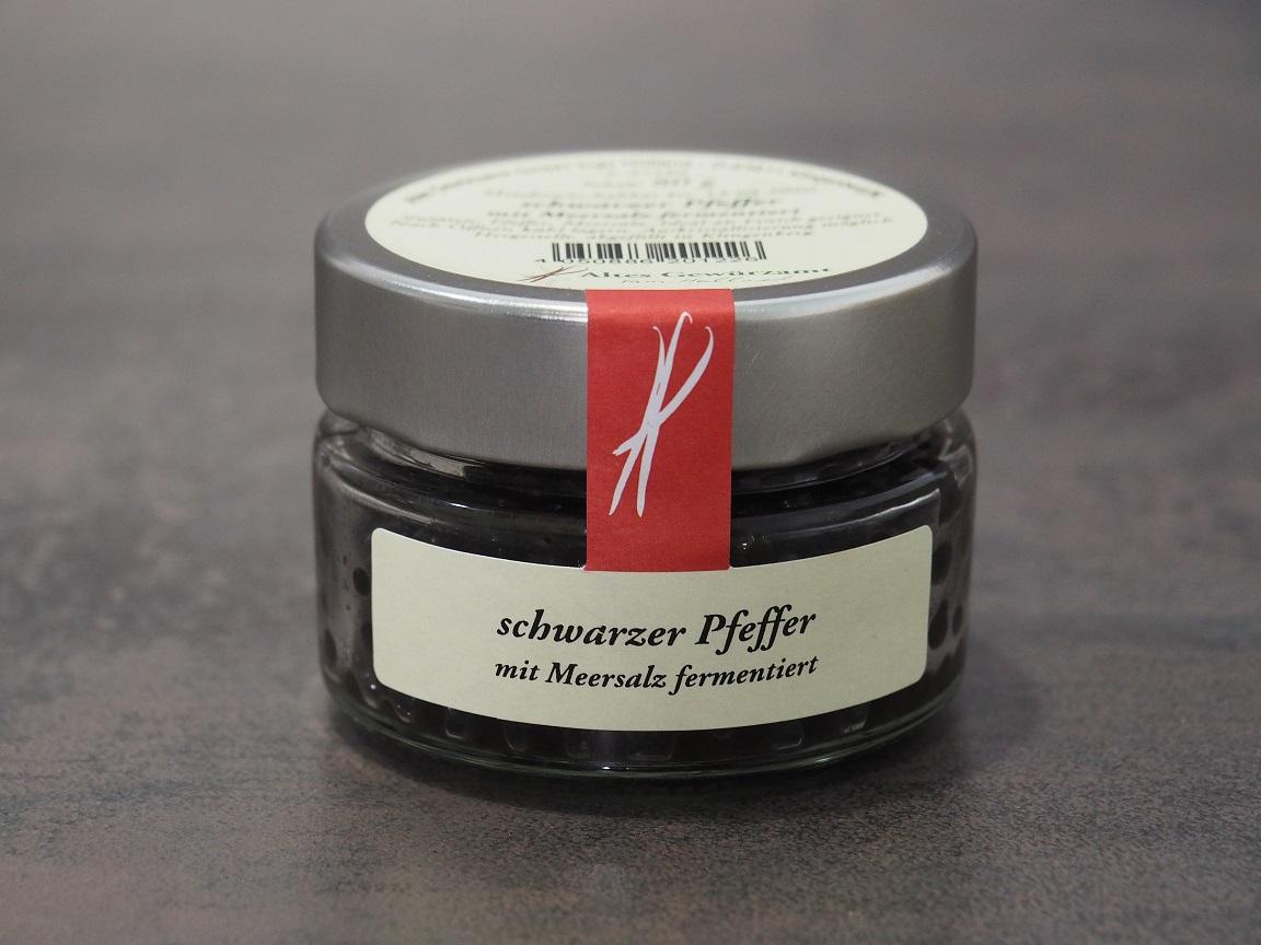 schwarzer Pfeffer mit Meersalz fermentiert